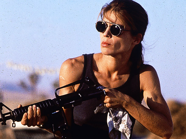 Sarah Connor in Terminator 2, 1991