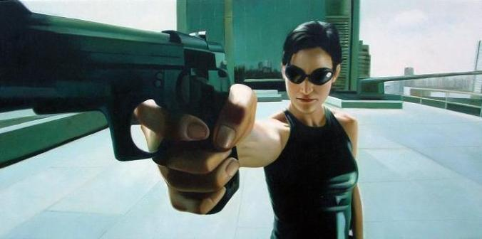 "Trinity in ""The Matrix,"" 1999."